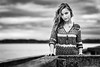 Prisca-5187-2 (tag71) Tags: canon 5dmarkiii 85mmf12liiusm portrait femme girl woman extérieur ciel sky bokeh dof noiretblanc nb contraste monochrome blackwhite amateur paysage mer océan france
