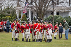 Chatting Up (lclower19) Tags: patriotsday dress rehearsal lexington massachusetts colonial reenactment reenactors british soldiers