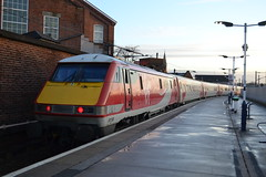 Virgin Trains East Coast 91130 (Will Swain) Tags: doncaster station 20th january 2018 train trains rail railway railways transport travel uk britain vehicle vehicles country england english north east yorkshire vtec vt donny virgin coast 91130 class 91 130