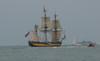 Le Havre - Parade des Grands voiliers - Le Shtandart (jeanlouisallix) Tags: le havre seine maritime haute normandie france mer plage voiliers vieux gréements marine armada armement navire navigation