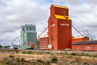 Grain elevators of Nanton, Alberta [Explored]