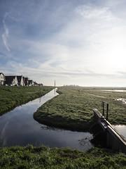 Durgerdam 2018: Lock and dyke (mdiepraam) Tags: durgerdam amsterdam 2018 earlymorning village dyke houses brook meadow lock sky clouds