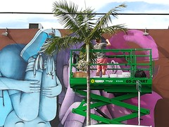 More art in Wynwood Walls Miami.