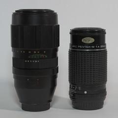Laurel et Hardy (lignesbois) Tags: matériel gear objectif lens jupiter21m kmz krasnogorsk smcpentaxm200mmf4