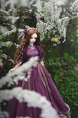 Ancient Wistaria (AyuAna) Tags: bjd ball jointed doll balljointeddoll dollfie ayuana design minidesign handmade ooak clothing clothes dress set outfit vetement robe gown historical edwardian style fashion couture sd sd13 sd10 sadol love60 yena whiteskin
