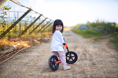 父女的午後幸福時光 (M.K. Design) Tags: taiwan nikon d800e nature portrait children baby girl kid primelens balancebike strider bokeh sigma 50mm f14 art camera scenery life family travel roadtrip sunshine afternoon green yellow 台灣 埔里 大坪頂 午後 陽光 散步 遛小孩 自然 兒童 寫真 定焦鏡 尼康 適馬 標準鏡 淺景深 散景 滑步車 平衡車 生活 旅行 綠 黃 外拍 model 親子 田園