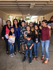 Arizona Field Consultant, Columba Sainz, talking about Moms Clean Air Force at Easter Sunday service at Sacred Heart Church