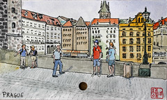 Prague (chando*) Tags: croquis sketch aquarelle watercolor