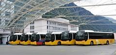 Chur PostAuto-Station 10.08.2017 (The STB) Tags: bus autobus autobús busse publictransport öpnv chur dieschweiz switzerland suisse