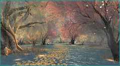 A world of colorful dreams (Tim Deschanel) Tags: tim deschanel sl second life exploration landscape paysage couleur color dream rêve luanes magical world morning glow colorful