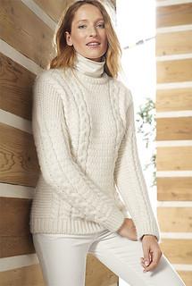 Wife in sexy fisherman knitwear