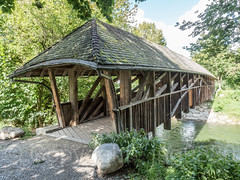 GLA670 Covered Wooden Bridge over the Glatt River, Niederglatt, Canton of Zurich, Switzerland (jag9889) Tags: 2017 20170915 bach bridge bridges bruecke brücke ch cantonzurich cantonofzurich coveredbridge crossing dielsdorf europe fluss footbridge gkz690 glatt glattvalley glatttal helvetia holzbrücke infrastructure kantonzürich niederglatt outdoor pedestrianbridge pont ponte puente punt rhinetributary river schweiz span stream structure suisse suiza suizra svizzera swiss switzerland wasser water waterway woodenbridge zh zürich jag9889