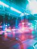 Phone (Gaye Köroğlu) Tags: blue pink purple light bus taxi road neon night city izmir turkey car blur movement motion