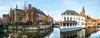 Pano from Brugge (keriarpi) Tags: fairytale town bruges brugge belgium travel traveling travelling holiday bridge unesco cityscape city pano panorama world heritage water tree building sky river architecture house park duc de bourgogne