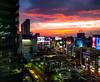 Shibuya sunset (tokyobogue) Tags: tokyo japan shibuya nexus6p nexus city cityscape sky skyline sunset dusk evening lights colours clouds buildings skyscrapers