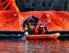 Scotland Greenock the ship repair dock the evacuation drill of the car ferry Clansman 29 March 2018 by Anne MacKay (Anne MacKay images of interest & wonder) Tags: scotland greenock ship repair dock evacuation drill caledonian macbrayne calmac car ferry clansman xs1 29 march 2018 picture by anne mackay