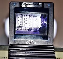 Before Power Point (vibeke2620) Tags: macromondays backintheday photoslides 2x2 slides lysbilleder old antique bukarest gammeldags agfacolorslides