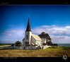 Little Church on the Coast (tomraven) Tags: church coast sky clouds sun tomraven aravenimage eastcape q22018 sea grass trees water spire steeple olympus penf