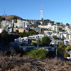 San Francisco, CA, Twin Peaks Residential Area (Mary Warren 13.5+ Million Views) Tags: sanfranciscoca noevalley twinpeaks neighborhood architecture building house residence