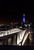 A Bridge to the Light (LMSeebeck) Tags: lighthouse marina harbor bridge night blue ocean longbeach california