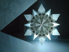 Snowflake (C5Origami) Tags: paperfolding origami snowflake paper
