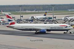 Boeing 767-335 G-BNWX British Airways (EI-DTG) Tags: planespotting aircraftspotting frankfurtairport fra 10apr2018 boeing boeing767 b767 gbnwx britishairways