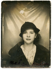 (deatonstreet) Tags: antique vintage portrait girl woman photobooth