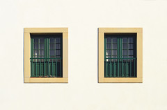 Two windows (revolution540) Tags: window wall architecture windows two summer photo photographer photography nikon d5100 yellow green