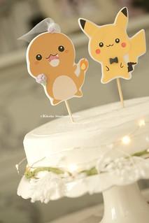 Handmade Pokemon Wedding Cake Topper,pocket monster Wedding cake topper, cartoons wedding cake decoration ideas