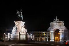 PraÇa do Comércio. Lisboa, Portugal. (Carlos Velayos) Tags: lisboa lisbon nocturna nightly arquitectura architecture plazadelcomercio praçadocomercio viaje trip travel viajar