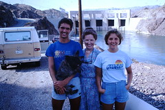 Found Photo - 1980s Teenagers with Mom at Dam (Mark 2400) Tags: found photo 1980s teenagers teens mom dam