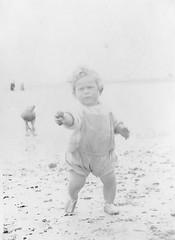 At the Beach 1930's (Bury Gardener) Tags: blackandwhite bw oldies old snaps scans people folks 1930s england uk british britain