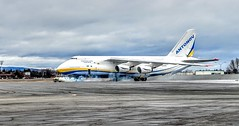 The 2nd Largest Plane in the World (f/ames) Tags: russian antonov airplane cargo canada thunderbay airport google pixel burning