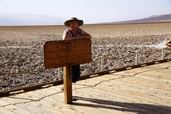 Bad Water, Death Valley, California (JRR) Tags: deathvalley deathvalleynationalpark desert california hot lowest kathy wife
