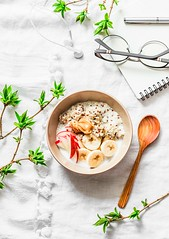 breakfast.... (sonja-ksu) Tags: food breakfast fruit quinoa milk planning morning foodphotography