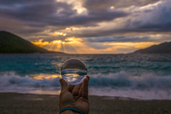 The crystal ball at sunset (Vagelis Pikoulas) Tags: sun sunset porto germeno greece tokina canon landscape sea seascape