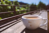 Berlin, Weichselstraße - Kaffeetasse (tom-schulz) Tags: eos6d exakta2828 rawtherapee haldclut berlin thomasschulz balkon kaffee tasse