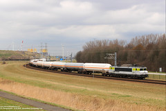 Captrain 1621 - Sloehaven 31-03-2018. (NovioSites) Tags: trein train loc locomotive rail netherlands captrain 1621 ns1600 alstom sloe vlissingensloe ketelwagens geleenlutterade dsm vopak
