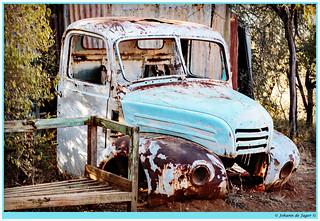 Abandoned blue truck (ID?)