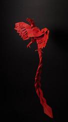 Phoenix 3.5 (Arturo-) Tags: fênix phoenix satoshi kamiya works 2 35 papel paper dobradura origami vermelho red fogo fire black preto complex doubletissue seda cmc