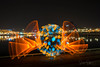 Strange light (Stefan Sellmer) Tags: schleswigholstein night lightpainting color strangelight city outdoor orb light longexposure reflections germany seascape cityscape kiel darkness seaside deutschland de