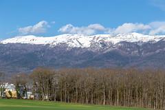 View of the Jura Mountains - Early Spring (evenkolder) Tags: cern sm18 acceleratorphysics physics canon6d lightroom switzerland france geneva particleaccelerator accelerator jura mountains snow snowcap