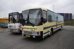 DAF / BOVA type Europa van de Betuwe Express 83 bouwjaar 1981 met kenteken BD-99-FR in Hoogezand 14-04-2018 (marcelwijers) Tags: daf bova type europa van de betuwe express bouwjaar 1981 met kenteken bd99fr hoogezand 14042018 40 jarig jubileum het nationaal busmuseum links volvo jonckheere bermuda harmani reizen 94 04vb71 bus coach toringcar nederland niederlande netherlands pays bas autobus autocar busse buses museum is eigendom stichting veteraan autobussen sva en gestationeerd bij regio limburg 83