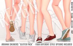 Reign.- Arianna Sneakers (Glitter Pack) (REIGN♥) Tags: reign teamreign secondlife shoes slink summer sneakers sl slevent sale saturdaysale tss maitreya mesh belleza body hourglass freya kenadee kenadeecole kenadeereign