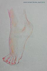 Estudiando los pies. Boceto a  lápiz de color. Abril 2018. ... Me gusta este resultado :) ... #draw #sketch (ismaelsaelig) Tags: sketch draw