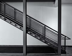 Metal staircase (Tim Ravenscroft) Tags: staricase industrial museum northadams massachusetts usa hasselblad hasselbladx1d x1d monochrome blackandwhite blackwhite