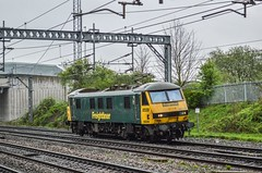 90046, Lichfield Trent Valley (JH Stokes) Tags: westcoastmainline wcml lichfieldtrentvalley 90046 class90 electriclocomotives lightengine freightliner trains trainspotting t tracks transport railways photography