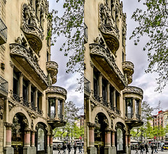 Casa Lleo Morera 3D (Immagini 2&3D) Tags: passeigdegracia barcelona catalunya spain modernism artnouveau liberty jugendstile 3d stereophotography stereoscopy