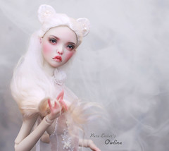 This is how we disappear (pure_embers) Tags: pure laura embers bjd doll dolls england uk girl popovysisters popovy sisters littleowl little owl pureembers owlina embersowlina photography photo ball joint resin portrait fine art white kitty wig mist