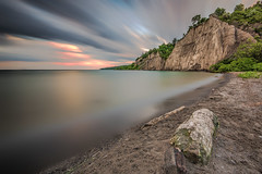 Scarborough Bluffs, Toronto (angie_1964) Tags: scarborough toronto ontario canada bluffs lake water sky longexposure clouds sunset nikon